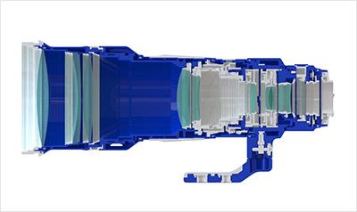 SIGMA 500mm F4 S DG OS HSM Przekrój