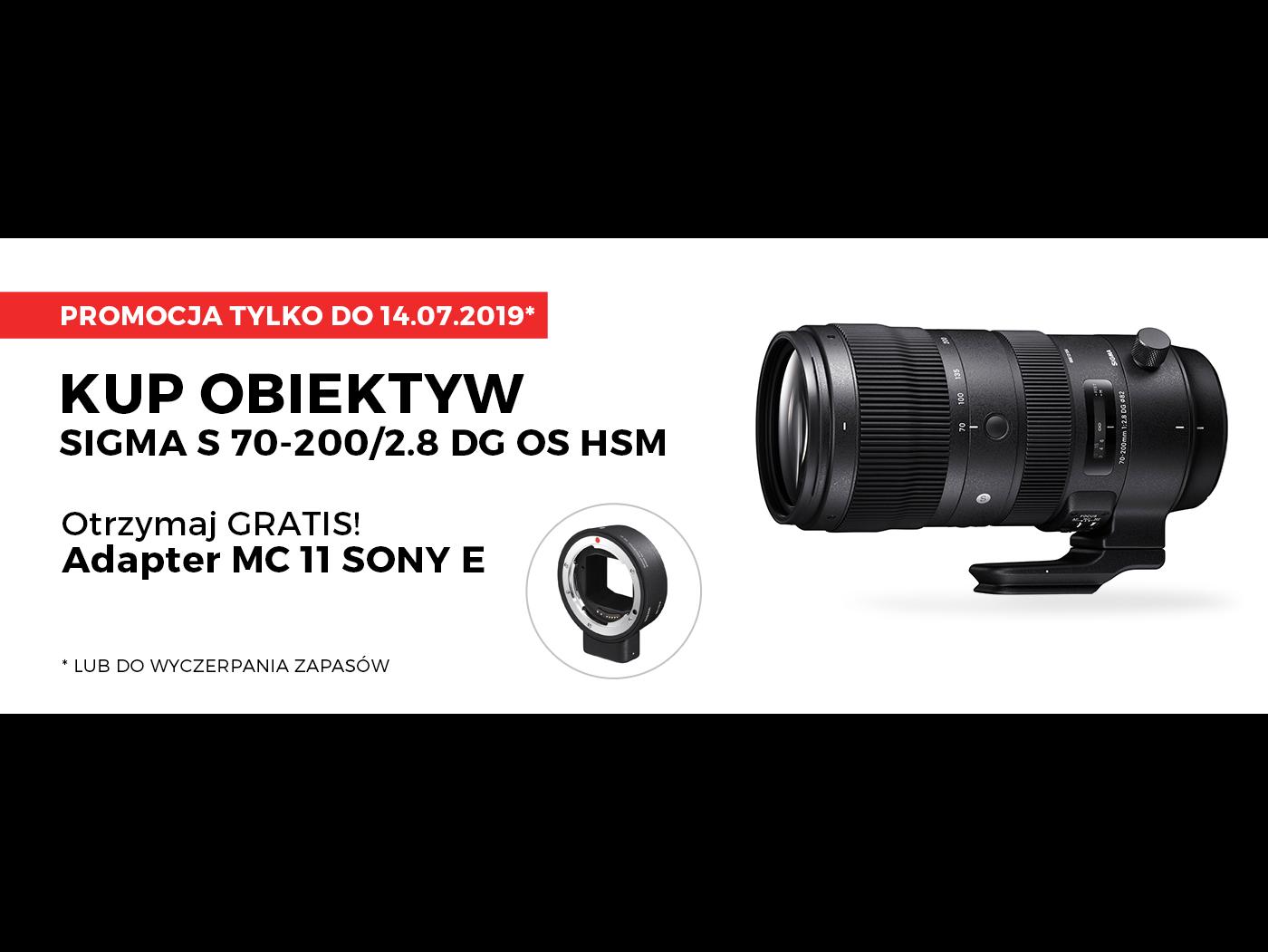 Promocja SIGMA 70-200mm F2.8 DG OS HSM Sports + SIGMA MC-11