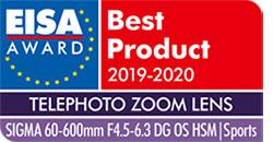 SIGMA 60-600mm F4.5-6.3 S DG OS HSM EISA Award