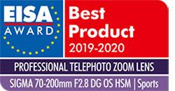 SIGMA 70-200mm F2.8 S DG OS HSM EISA Award