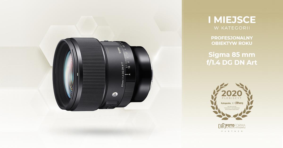 SIGMA 85mm F1.4 DG DN najlepszym obiektywem 2020 roku w plebistycie Fotopolis.pl!