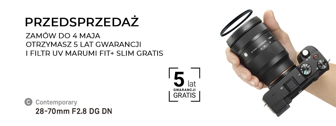 Rozpoczęcie sprzedaży SIGMA 28-70mm F2.8 DG DN | CONTEMPORARY